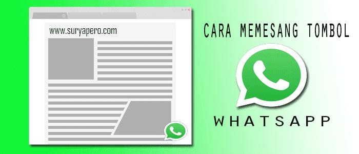 Cara Membuat Tombol Widget Whatsapp blogspot