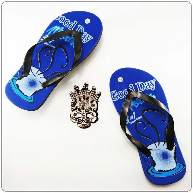 Grosir Sandal Online Termurah - Sandal Jepit Motif Kopi Pria AB
