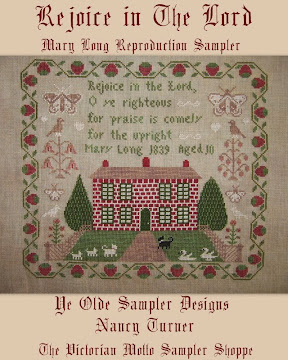 Rejoice in The Lord, Mary Long Reproduction Sampler
