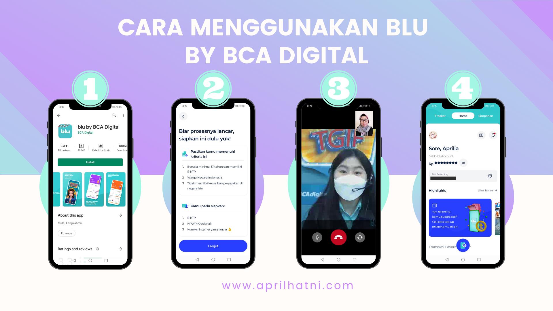 cara menggunakan aplikasi blu by bca digital