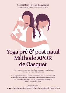 Yoga, pré, post, natal, prénatal, postnatal, femmes, enceintes, post partum, la tour d'auvergne, rennes, elais livingston,