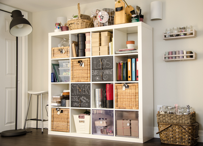 IKEA Spice Racks Upcycled for Craft Storage | personallyandrea.com