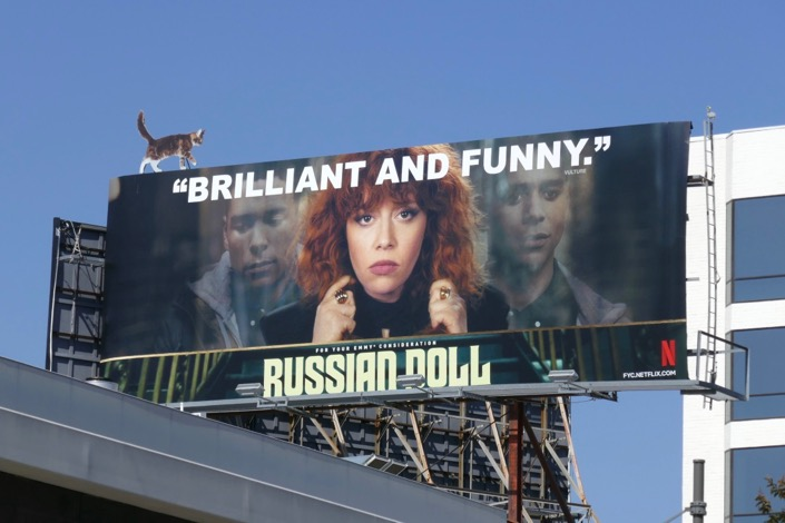Russian Doll season 1 Emmy FYC cat extension billboard