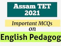Important MCQs on English Pedagogy for Assam TET 2021