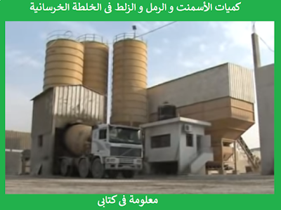 Quantities of cement, sand and zalat in concrete mixture