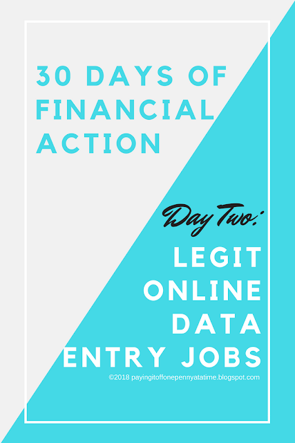30 Days of Financial Action -- Day Two: LEGIT Online Data Entry