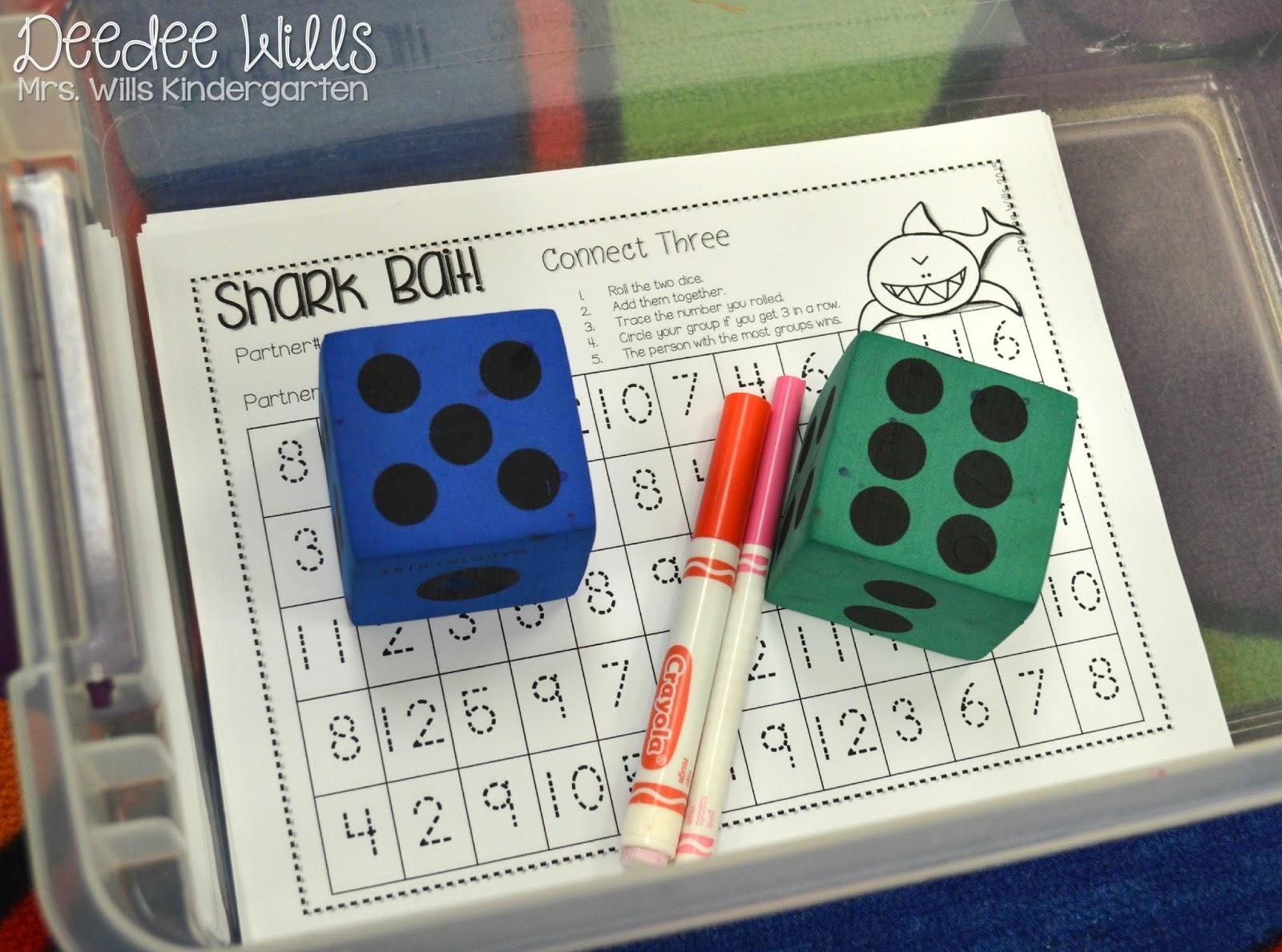 Kindergarten Math Center Ideas & a FREE File!