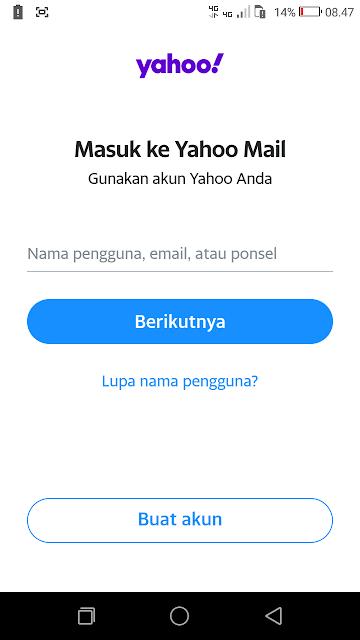Masuk ke situs yahoo.com