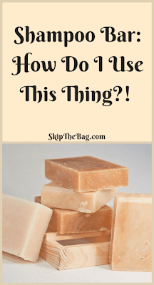 Information about what a shampoo bar is and how to use it to wash your hair in a zero waste and plastic free way.