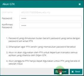 Cara melihat password akun PTK Dapodik