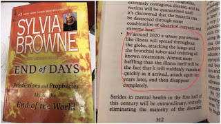 book by sylvia browne  is fake about Corona prediction.