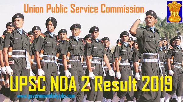 UPSC NDA 2 Final Result 2019 Download