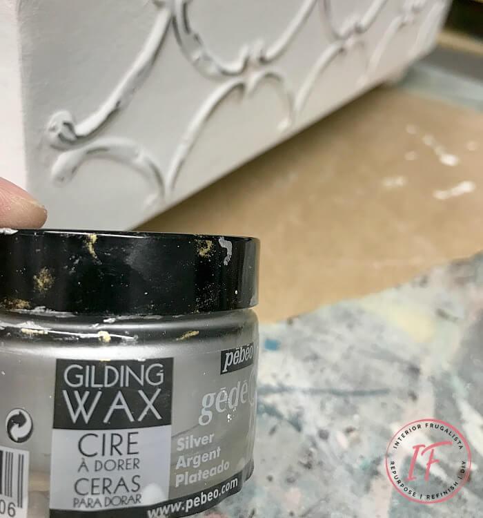 Ottoman Tray Silver Gilding Wax