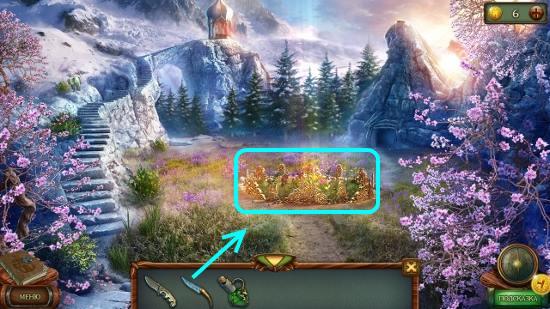 ищем одинаковые цветы в клумбе в игре наследие 3 дерево силы
