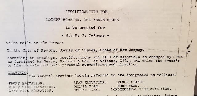 specs for purchase of Authenticated Sears No 163 of Reuben Talmage
