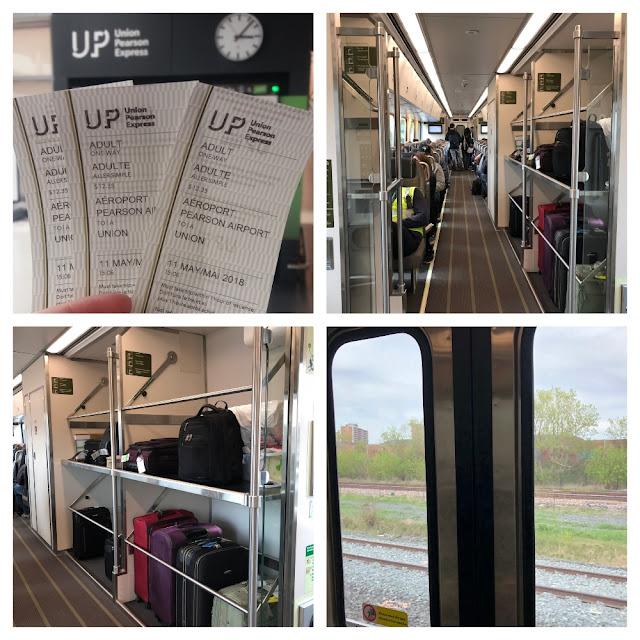 trem Union Pearson Express (UP) em Toronto