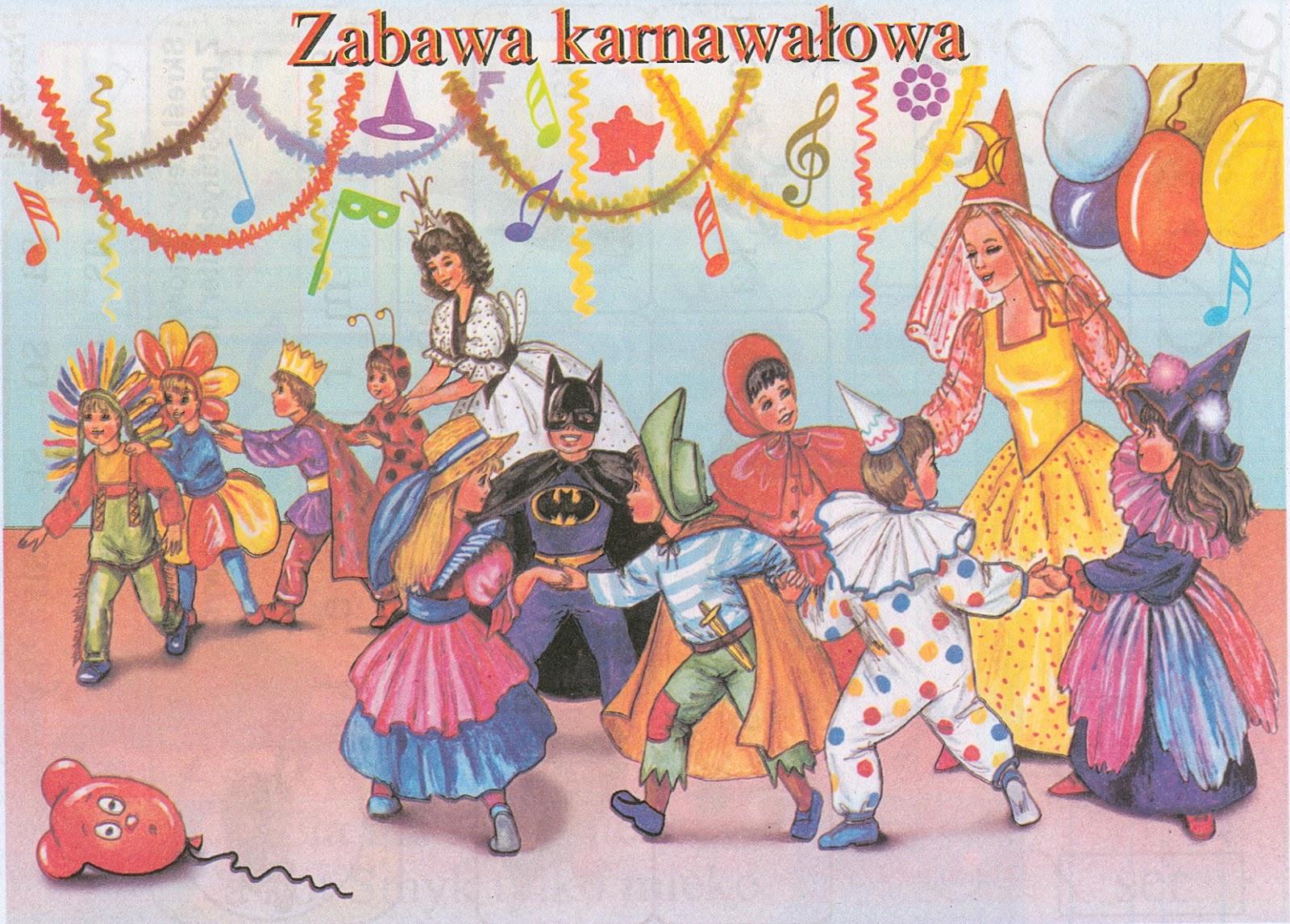 Znalezione obrazy dla zapytania bal karnawałowy w przedszkolu ilustracja