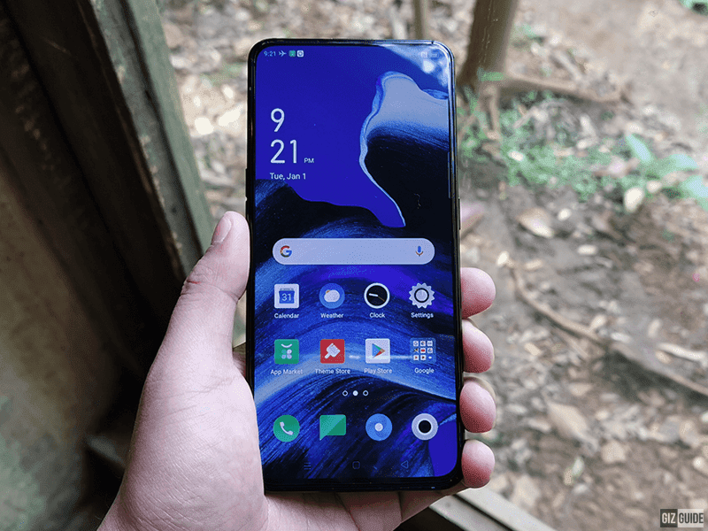 Notchless all-screen design