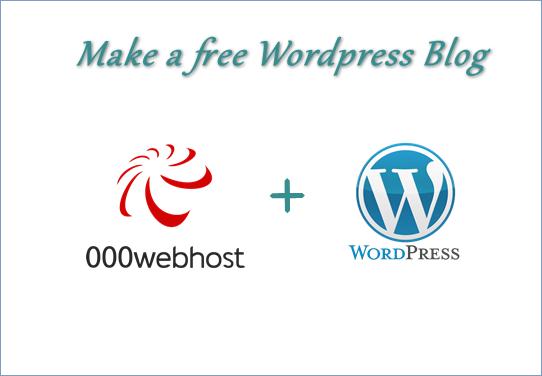 Free wordpress blog kaise banaye 000webhost