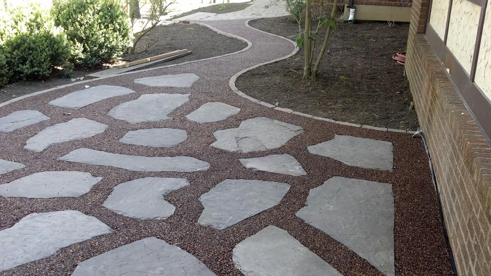Life Time Pavers: Gravel-Lok Pebbles Patio and Walkway on Pebble Patio Ideas id=28288