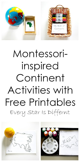 Montessori-inspired Continent Activities with Free Printables