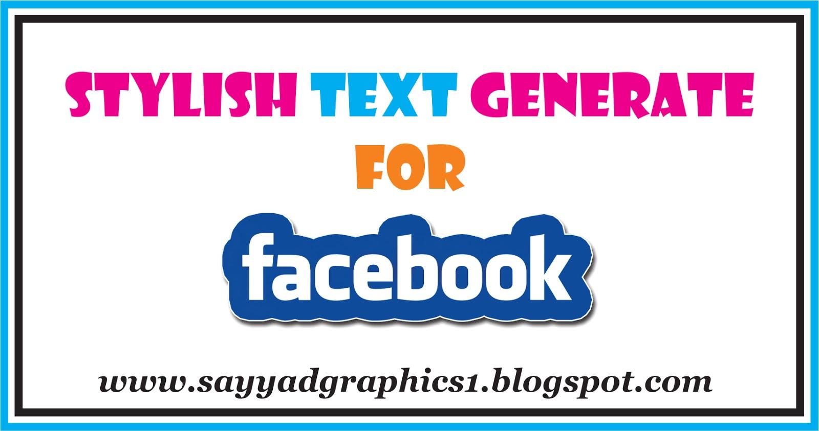 Facebook Stylish Text Generator