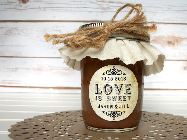 custom love is sweet wedding favor labels