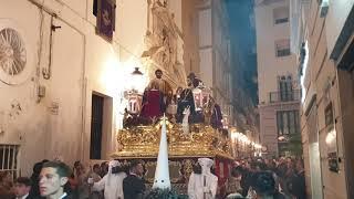 Sagrada Cena por calle San Francisco. Semana Santa Cádiz 2019