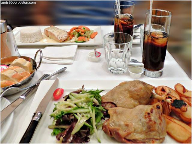 Comida en el Restaurante Bistro Sous le Fort, Ciudad de Quebec