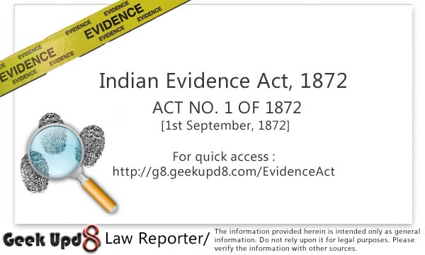 Indian Evidence Act, 1872 [Full Bare Act PDF Download]