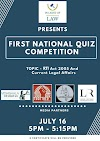 1st NATIONAL ONLINE QUIZ COMPETITION ON RIGHT TO INFORMATION ACT 2005 AND CURRENT LEGAL AFFAIRS