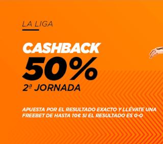 Kirolbet cashback jornada 2 Liga 16-20 septiembre 2020