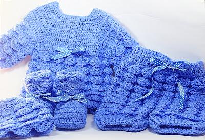 3 - Majovel crochet Pantalones crochet a juego con la chambrita a relieve