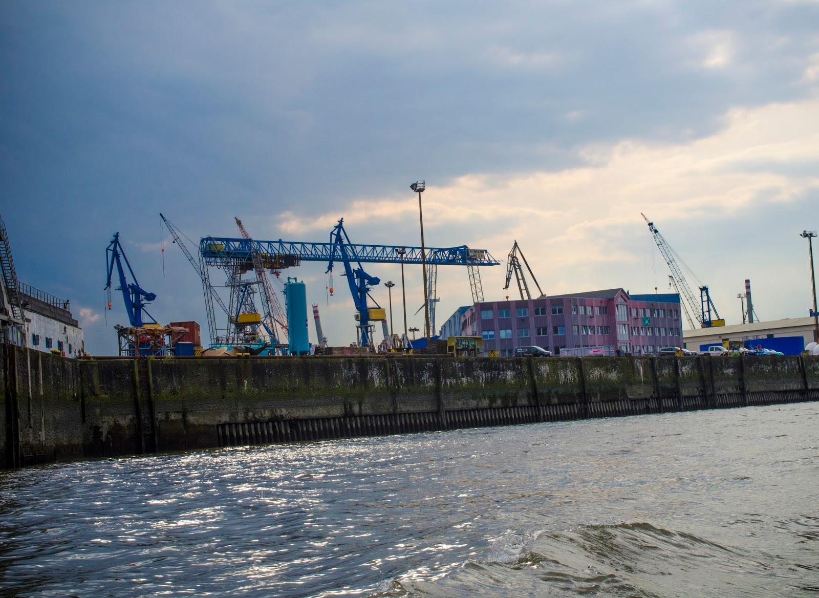 industrial germany hamburg port