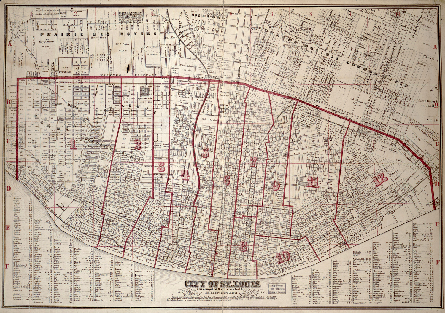 Maps of St Louis 1764–1960