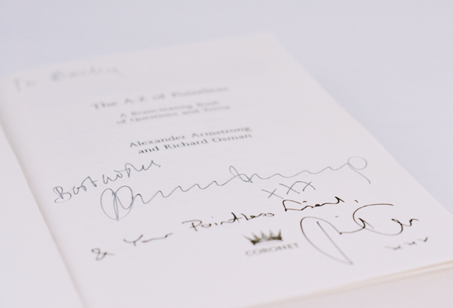 Signed Pointless book