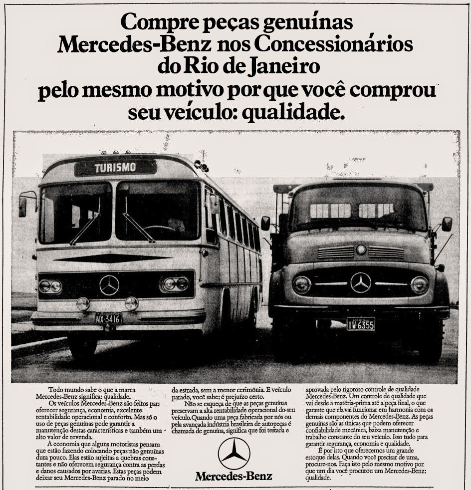 mercedes-Benz.  reclame de carros anos 70. brazilian advertising cars in the 70. os anos 70. história da década de 70; Brazil in the 70s; propaganda carros anos 70; Oswaldo Hernandez;