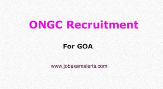 ONGC Recruitment for GOA