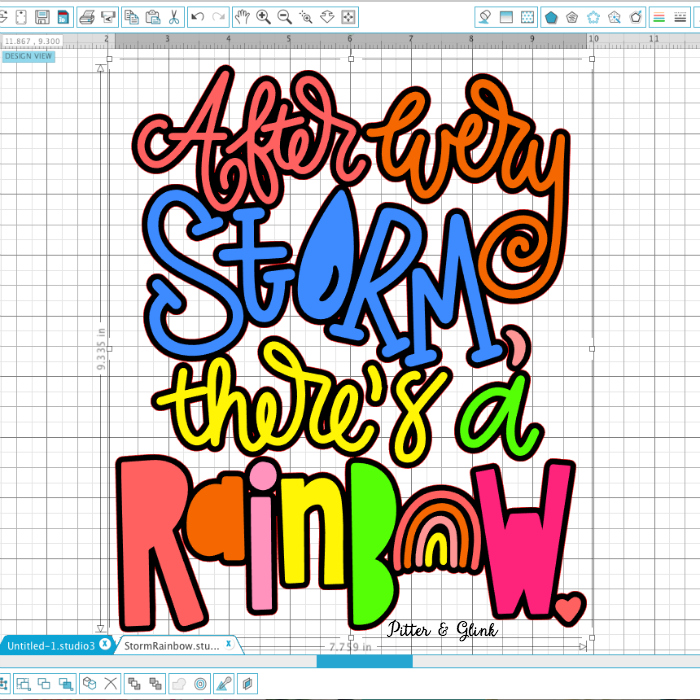 Hand Lettered Rainbow Quote