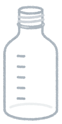 ねじ口瓶のイラスト