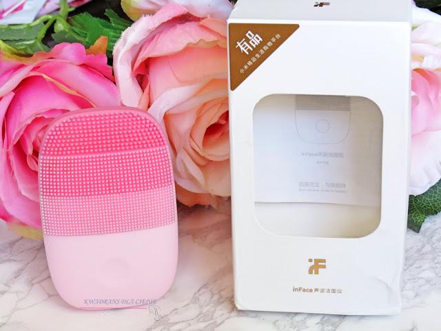 Xiaomi inFace Electric Ultrasonic Silicone Facial Cleaning Brush IPX7, soniczna szczoteczka do mycia twarzy Xiaomi InFace, soniczna szczoteczka do oczyszczanie skóry, szczoteczka do mycia twarzy z Aliexpress, Kwadrans dla Ciebie, pielęgnacja skóry,
