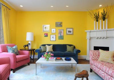 cat ruang keluarga modern