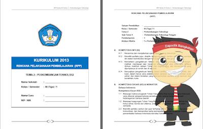 RPP Kelas 3 Semester 1 Kurikulum 2013 Revisi 2018