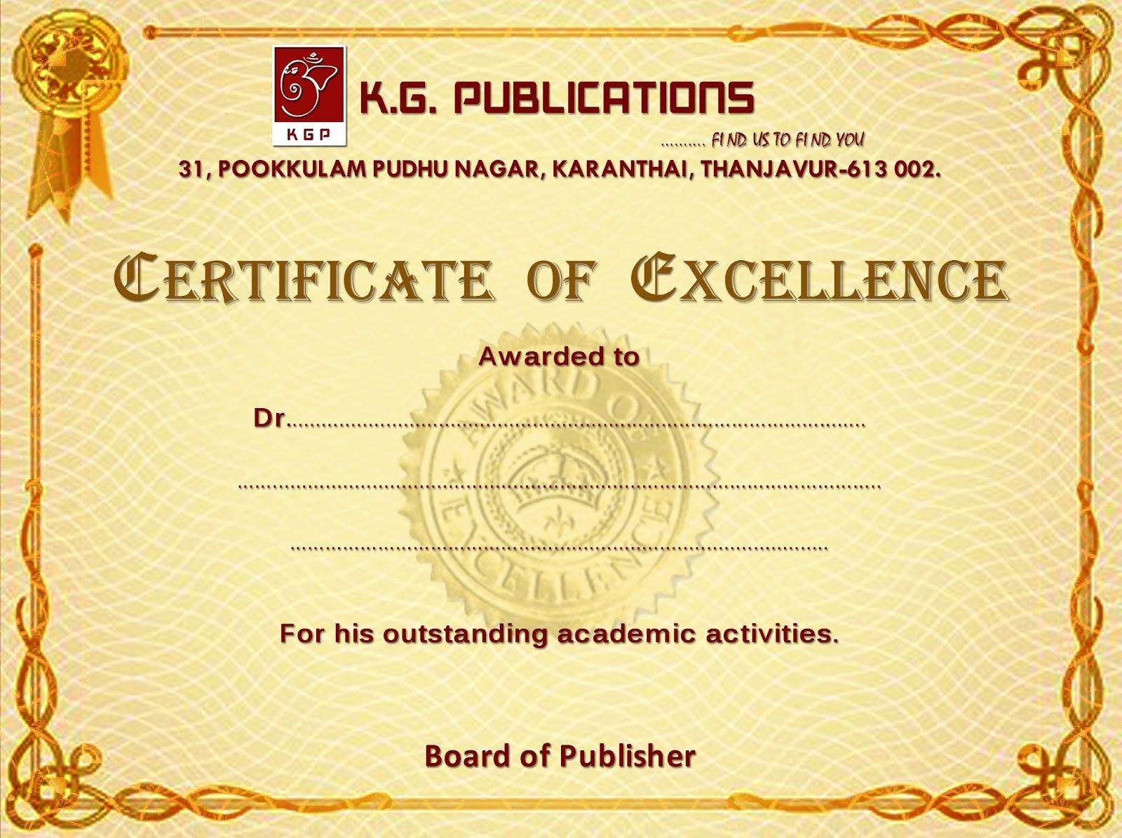 Travel Book Certificate