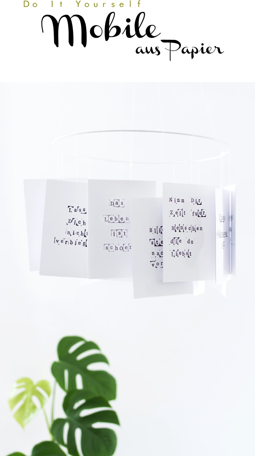poesie zum aufh ngen papier mobile sinnenrausch diy und interior blog. Black Bedroom Furniture Sets. Home Design Ideas