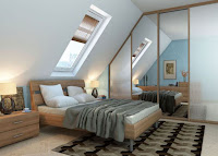 Nicely decorated attic bedroom
