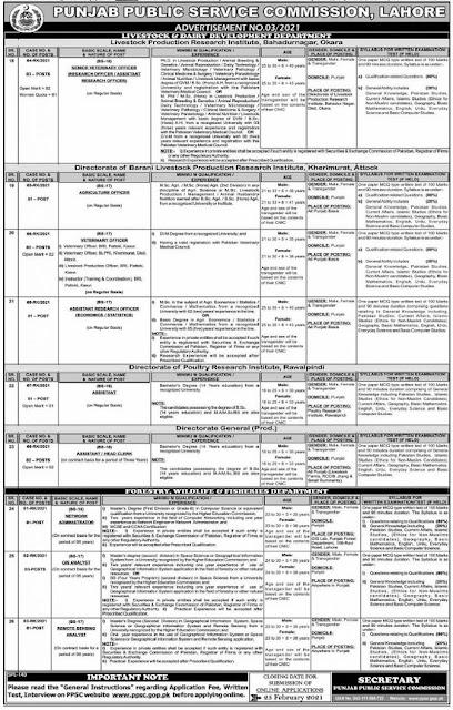 punjab-public-service-commission-ppsc-jobs-2021-february-advertisement-no-3