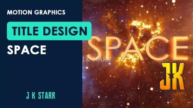Space Title Design - J K Starr