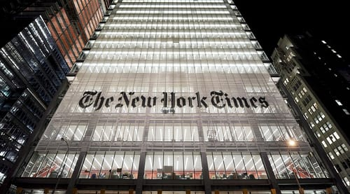 The New York Times sells one of its columns as NFT