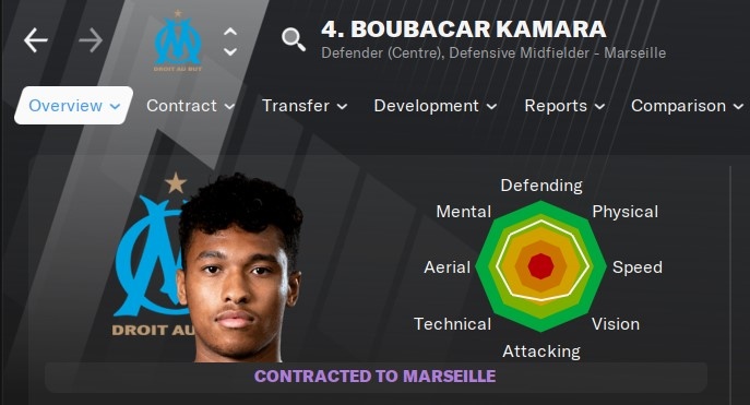 Boubacar Kamara Football Manager 2021 FM21 FM2021